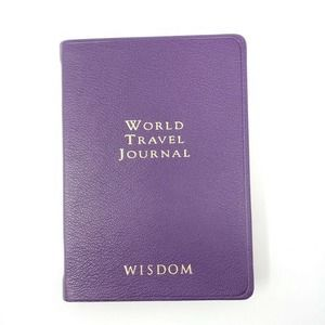 Graphic Image World Travel Journal Leather